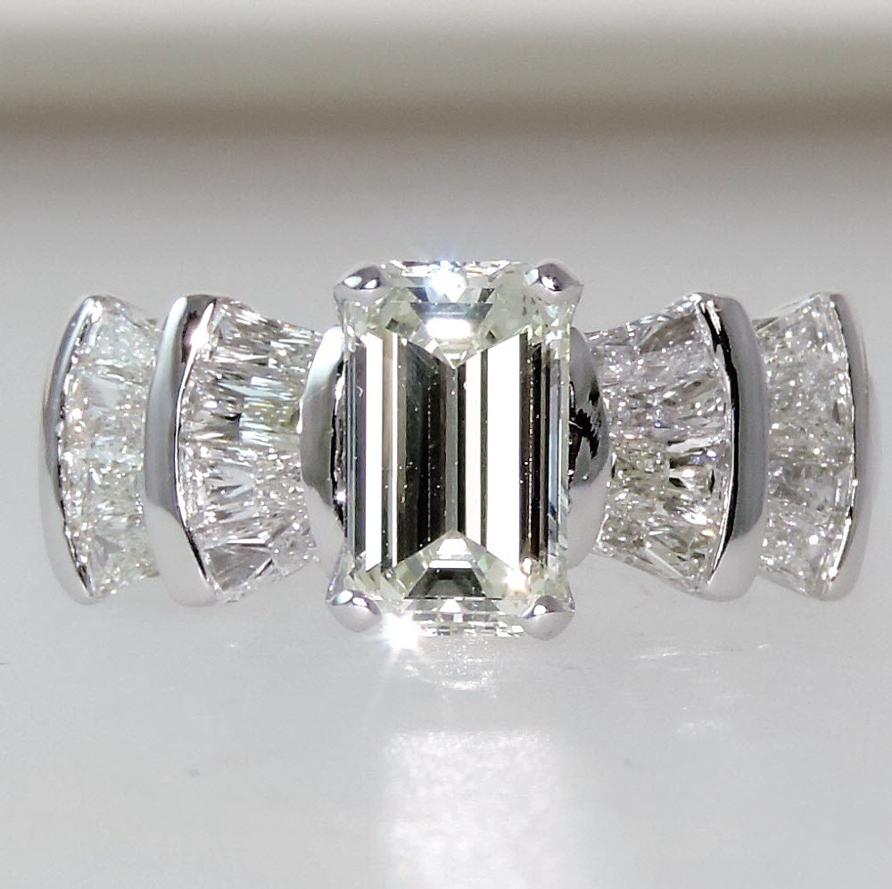 custom emerald cut ring