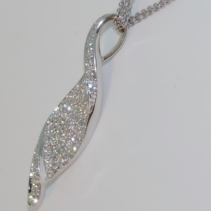 Buy Pave Diamond Twist Pendant