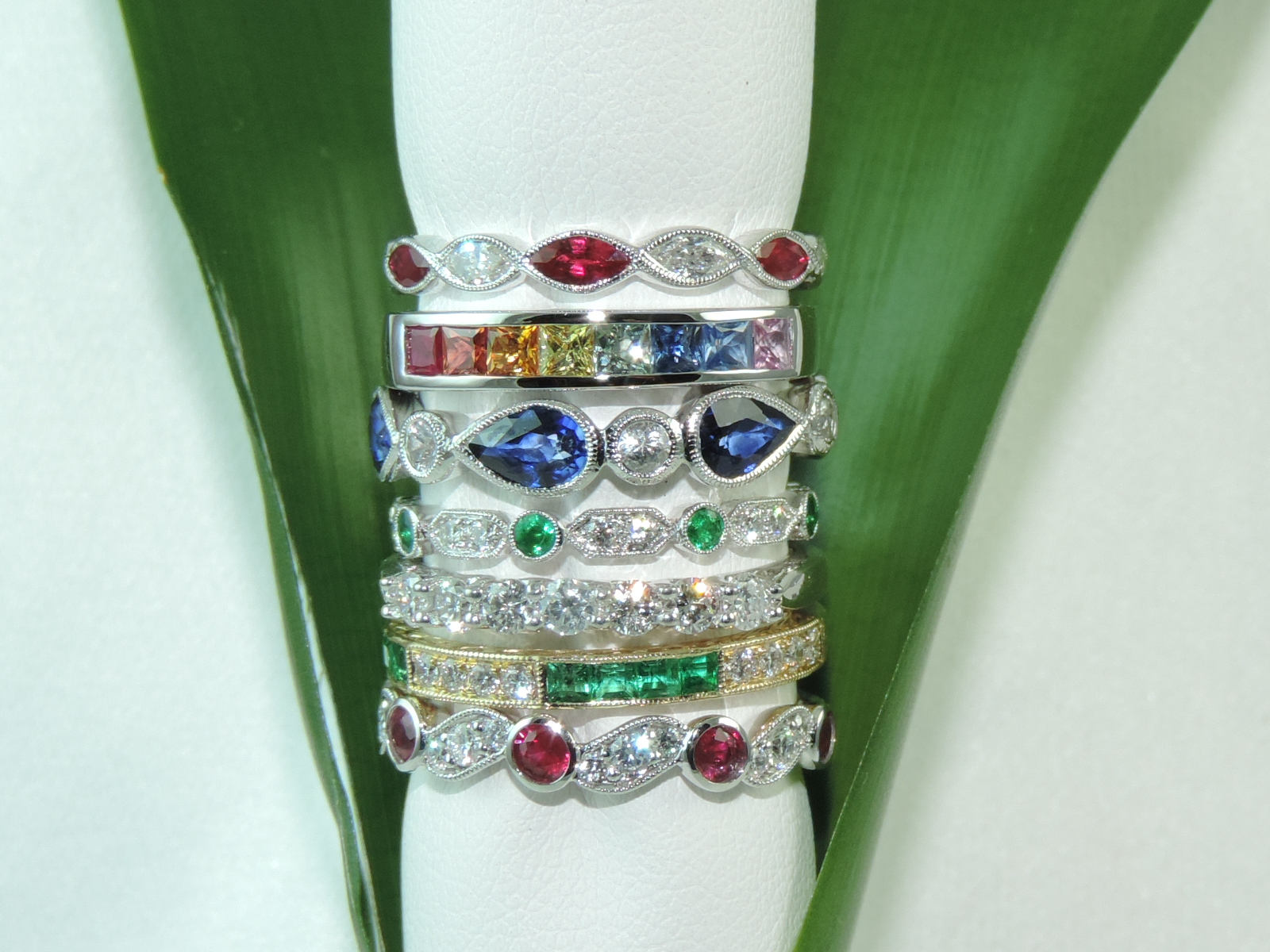 stacked colored rings