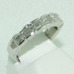 Emerald Cut Diamond Platinum