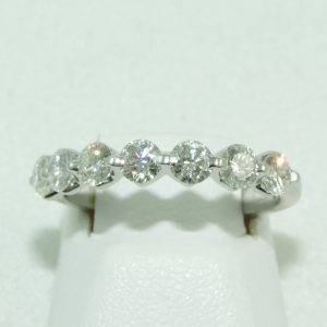 Platinum and Diamond Band 7 stone