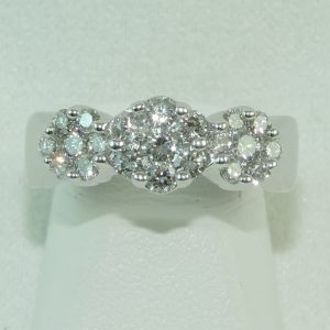 14k-White-Gold-and-Diamond-Cluster-Ring