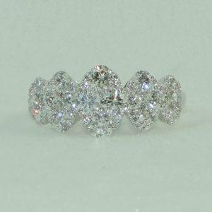 18k White Gold 50 Diamond Ring