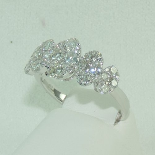 18k White Gold 50 Diamond Ring
