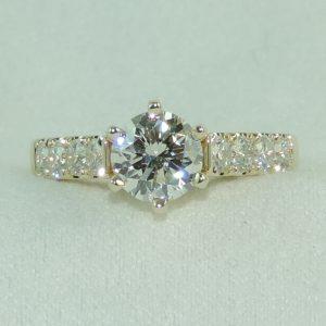 Custom Yellow Gold Diamond Engagement Ring