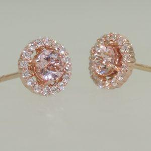 Morganite-and-Diamond-Rose-Gold-Halo-Earrings
